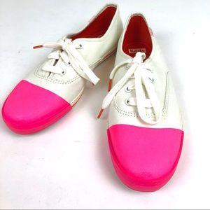 Kate Spade 7.5 Keds Dipped Toe Sneaker Raspberry